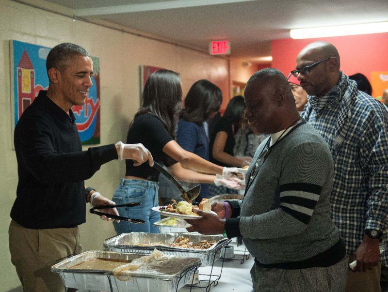 Obama en acción de gracias en 2015