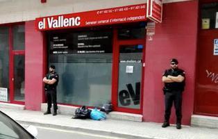 Irrumpen en la sede de un diario independentista para incautar material del referéndum