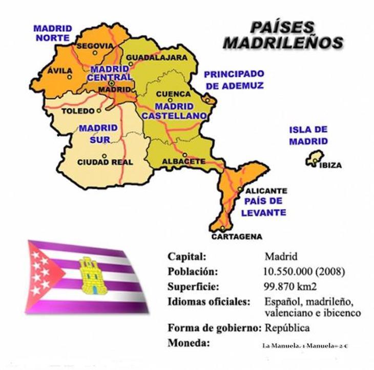 Mapa detallado países Madrileños