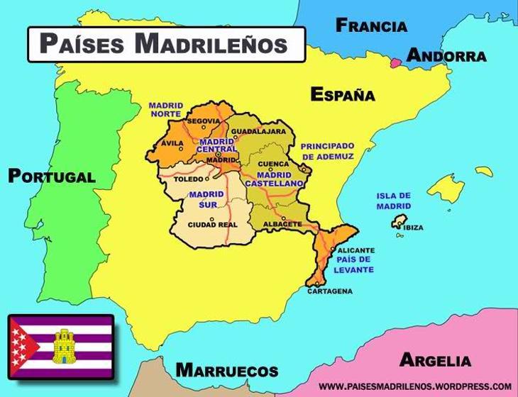 Mapa Países Madrileños