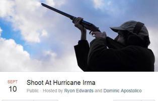 """Derribar el huracán Irma """"a tiros"""": el loco plan de los defensores de las armas en EE.UU."""