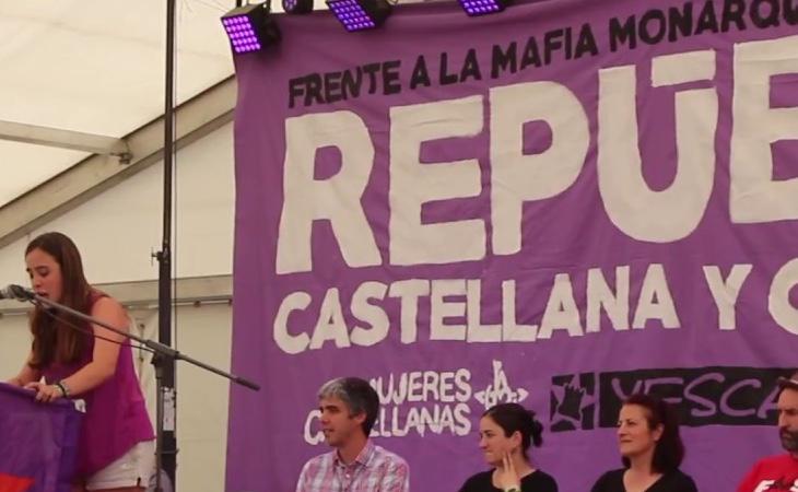 Acto político de Izquierda Castellana