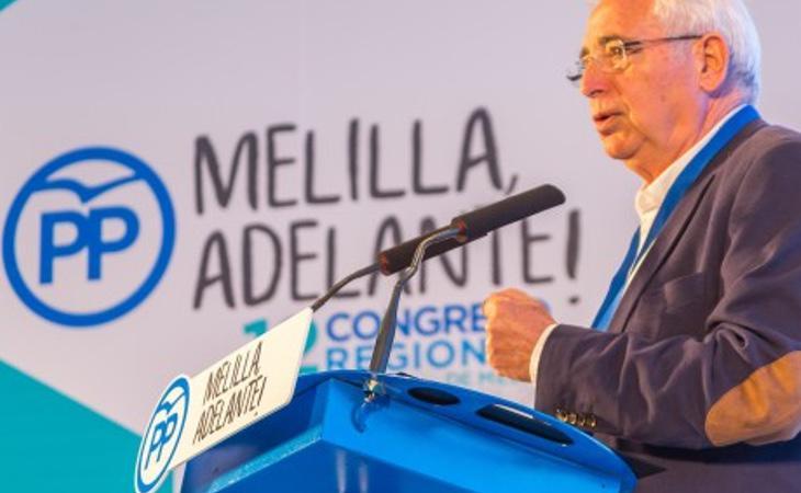 Juan José Imbroda, presidente de Melilla en un Congreso Regional del PP