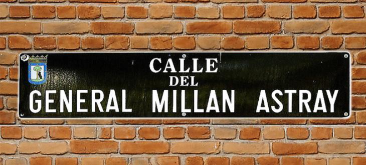 Placa de la calle que Carmena quiere retirar en cumplimiento de la Ley de Memoria Histórica