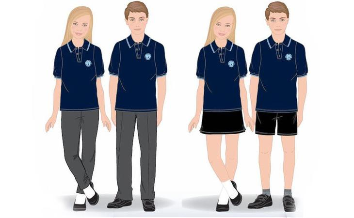 Nuevo uniforme del centro privado británico