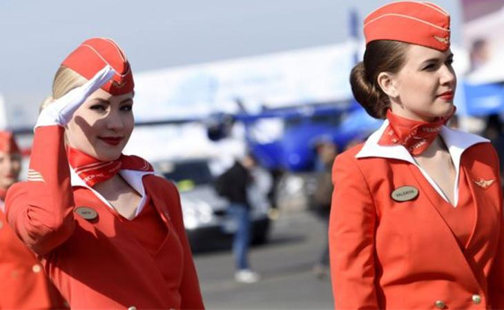 Azafatas de la compañía Aeroflot