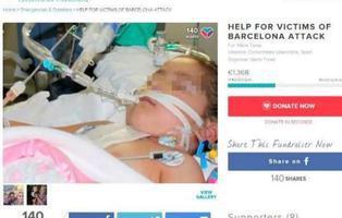 Una falsa víctima utiliza el atentado de Barcelona para estafar en Internet
