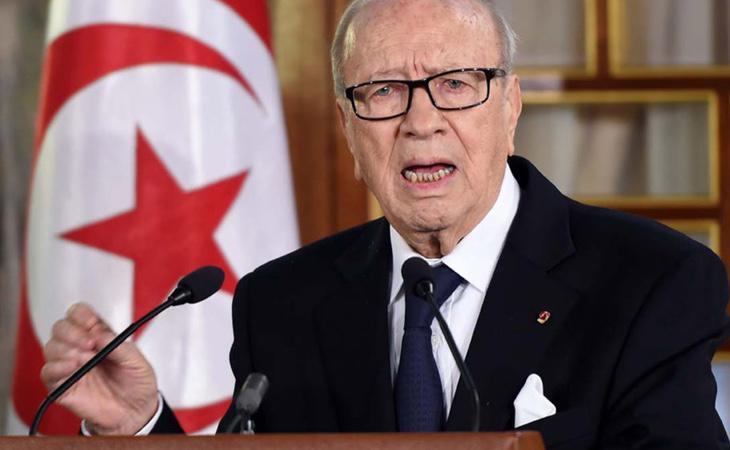 Beji CaïdEssebsi, presidente de Túnez