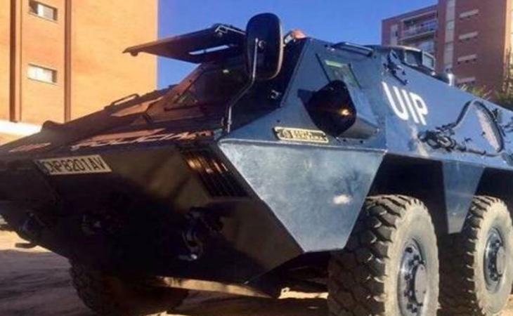Los tanques serán usados por las unidades antidisturbios