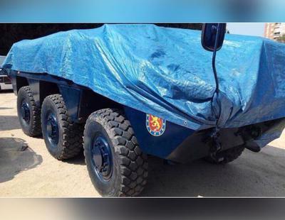 La Policía Nacional está preparando estos tanques blindados para enviarlos a Cataluña