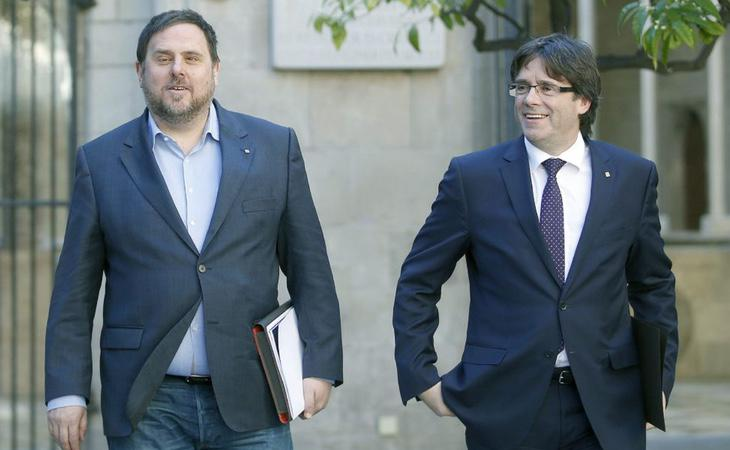 Puigdemont y Junqueras podrían pasar una década en prisión si se consuma el 1-O