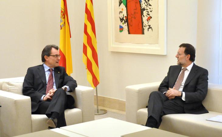 Artur Mas junto al presidente del Gobierno, Mariano Rajoy