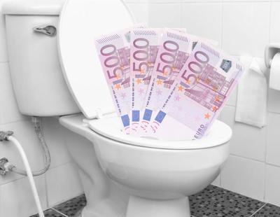 Investigan el atasco de retretes en un banco suizo con billetes de 500 euros