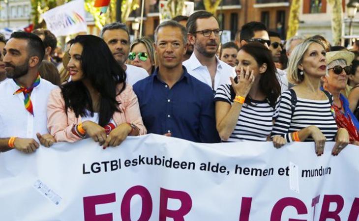 Representantes del PP en la manifestación del WorlPride 2017 en Madrid