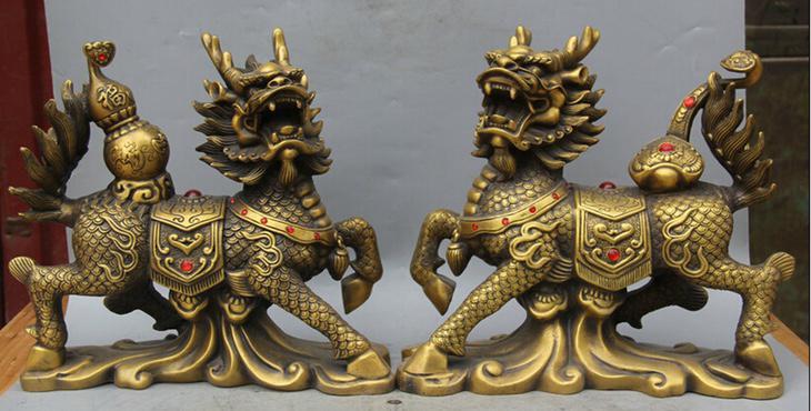 Estatuas Qilin