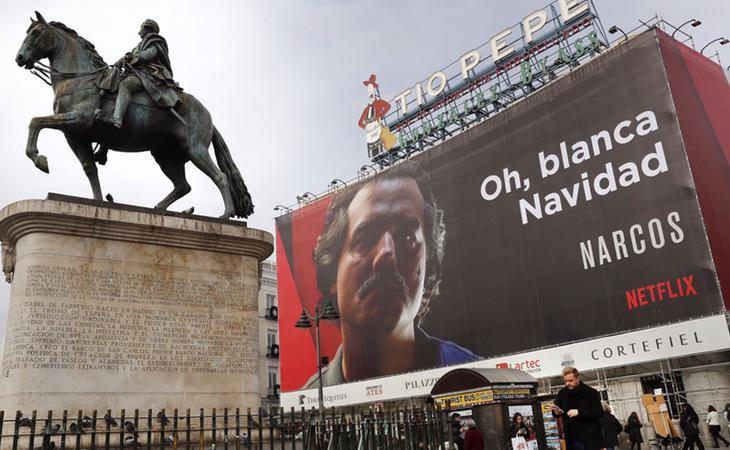 Campaña navideña sobre el regreso de 'Narcos' de Netflix