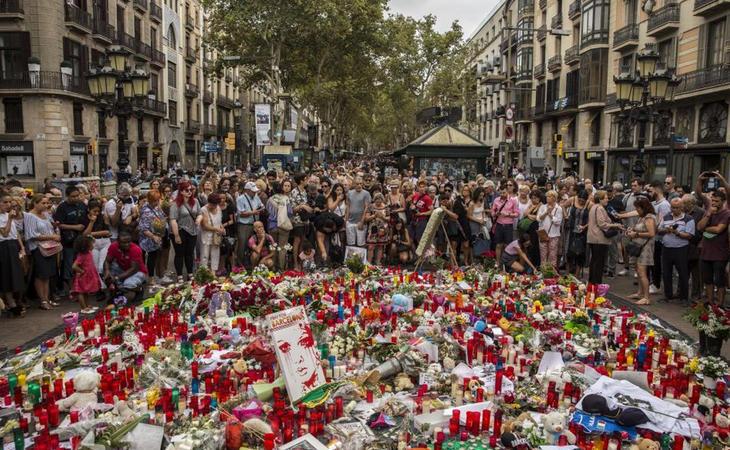 Solidaridad en Barcelona tras los atentados