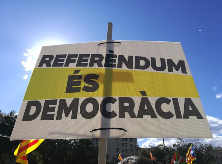 MÉS per Mallorca son partidarios de que el referendum se tendría que permitir en un verdadero estado democrático