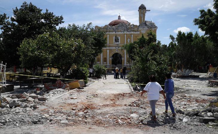 Laiglesia de Santiago Apóstol Atzala en Puebla quedó destruida tras el terremoto