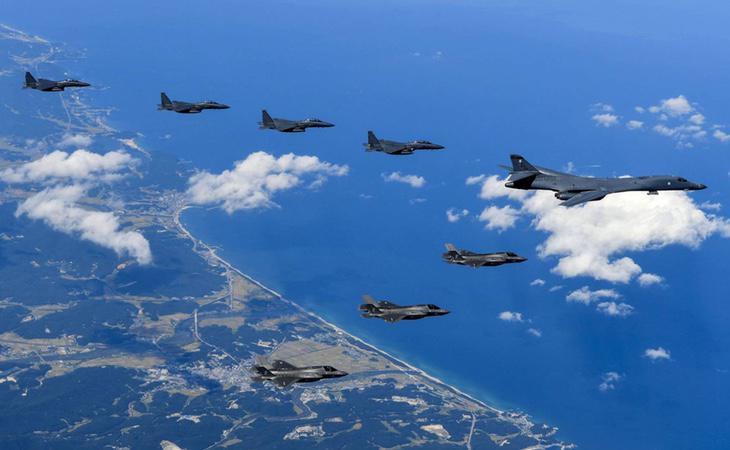 Los cazas estadounidenses han sobrevolado la costa norcoreana