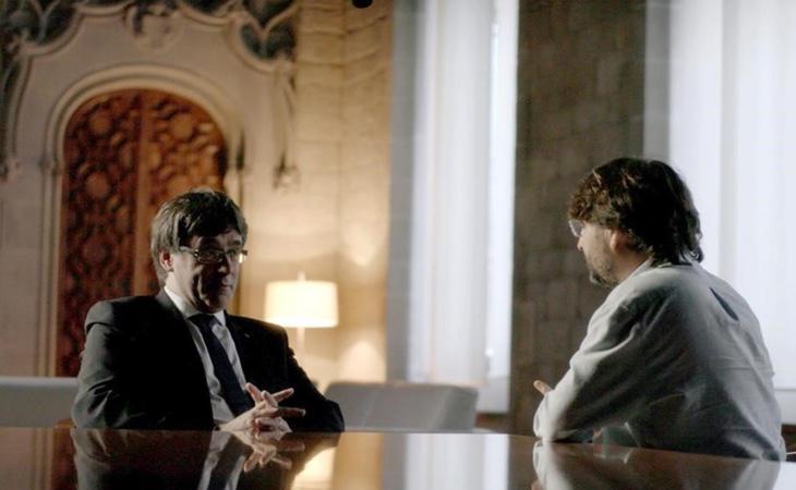 Entrevista dirigida por Jordi Évole a Carles Puigdemont en 'Salvados'