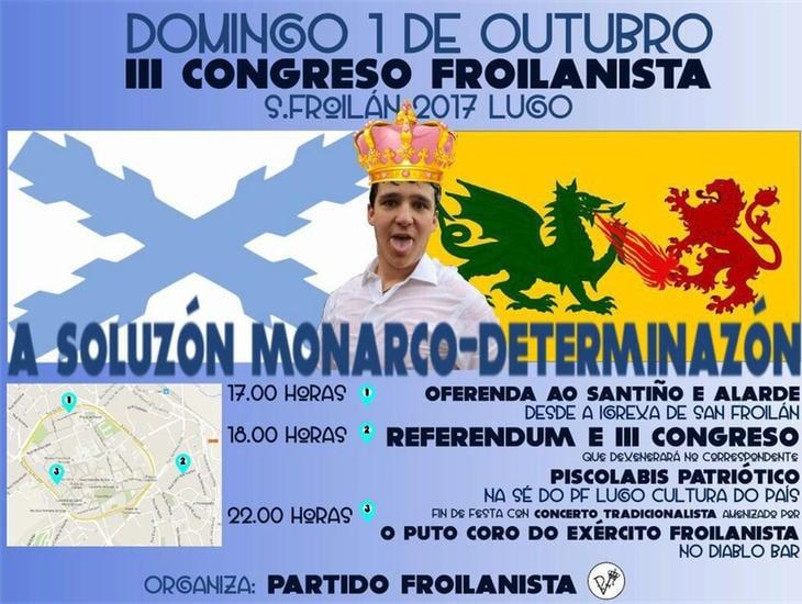 Cartel del Partido Froilanista anunciando el referéndum