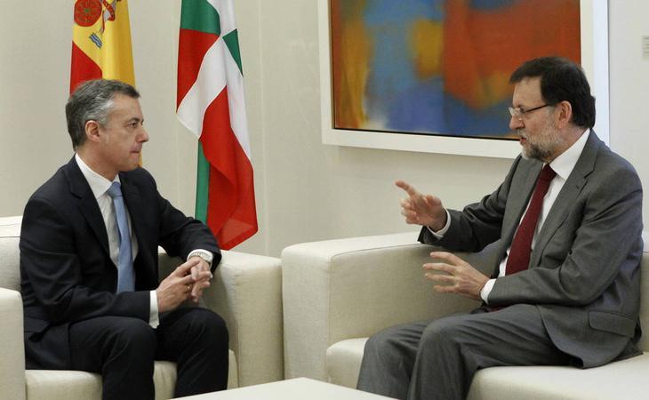 El lehendakari Iñigo Urkullu y el presidente del Gobierno de España, Mariano Rajoy