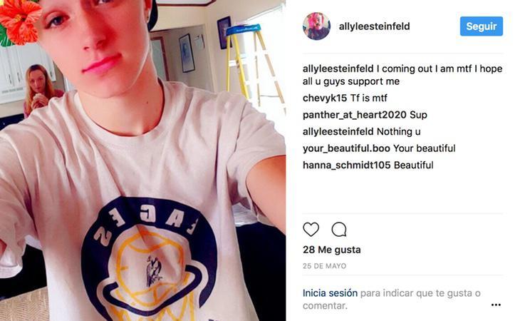 Ally salió del armario en Instagram