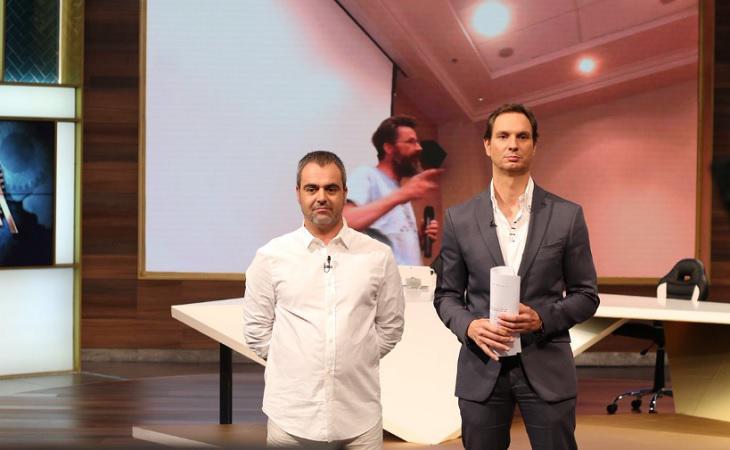 Patricio Carrasco junto a Javier Cárdenas en 'Hora Punta'