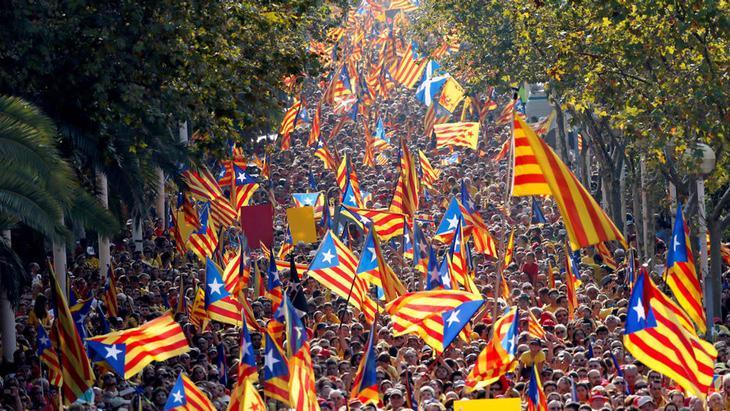 Manifestantes por la independencia