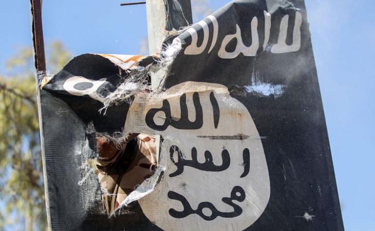 Bandera del Daesh intervenida por la Policía