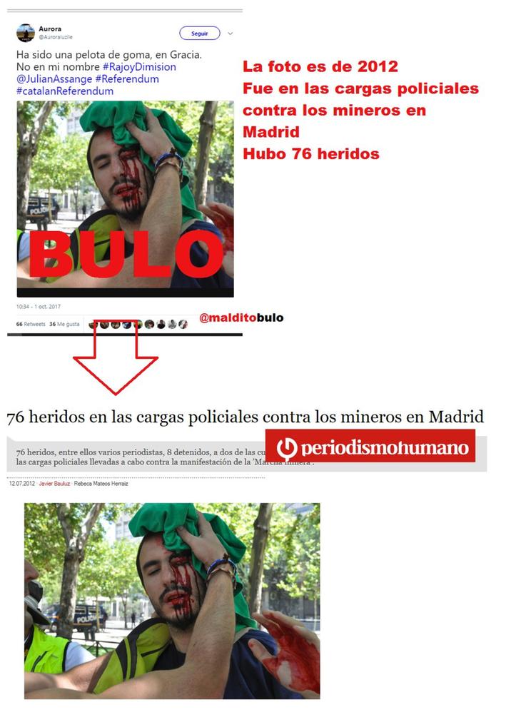 El herido en cuestión no era un manifestante catalán