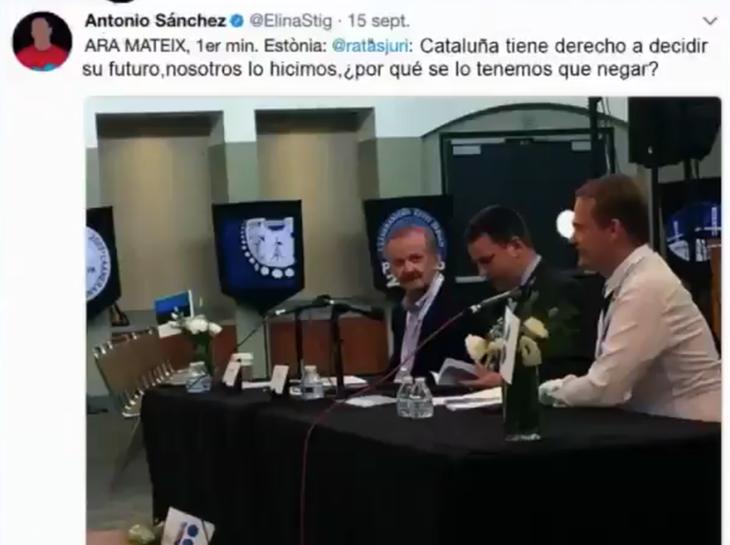 El falso delegado de Estonia llegó incluso a dar una rueda de prensa hablando de la situación catalana