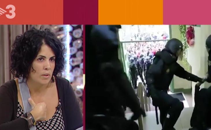 Marta Torrecillas durante su intervención en el programa de TV3
