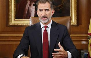 """Mensaje del Rey Felipe sobre Cataluña: """"Debemos asegurar el orden constitucional"""""""
