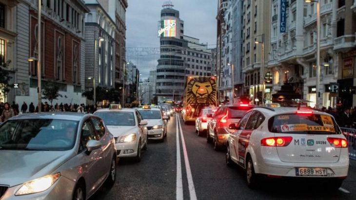 El tráfico en la Gran Vía