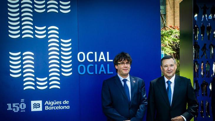 El presidente de la compañía y el Presidente de la Generalitat en la celebración del 150 aniversario de la empresa SAGB