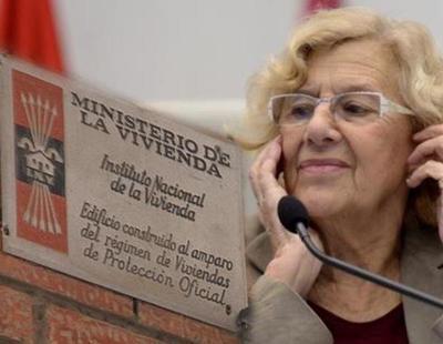 Carmena retirará ayudas a las fincas que mantengan las placas franquistas en sus portales