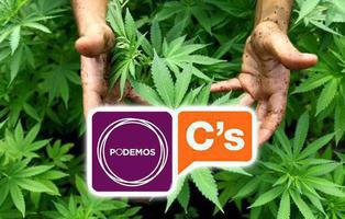 Ofensiva de Podemos, Ciudadanos y nacionalistas para legalizar la marihuana