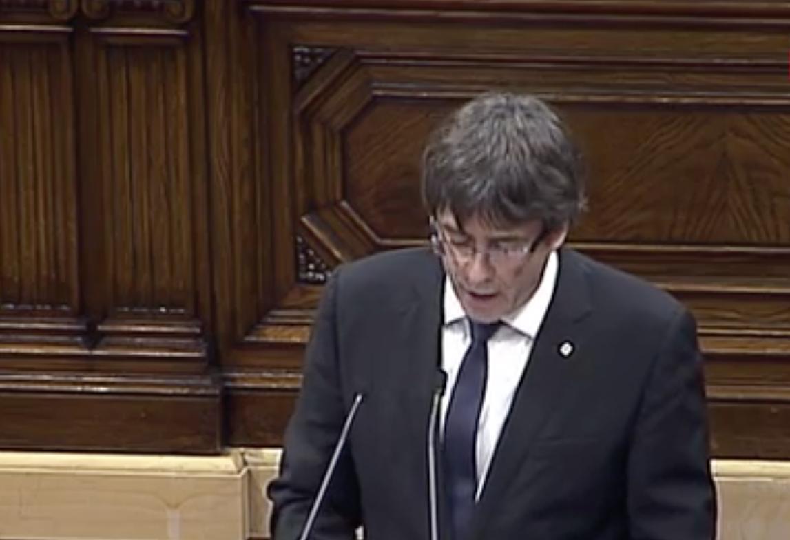 'El Estado español ha involucionado', dice Puigdemont