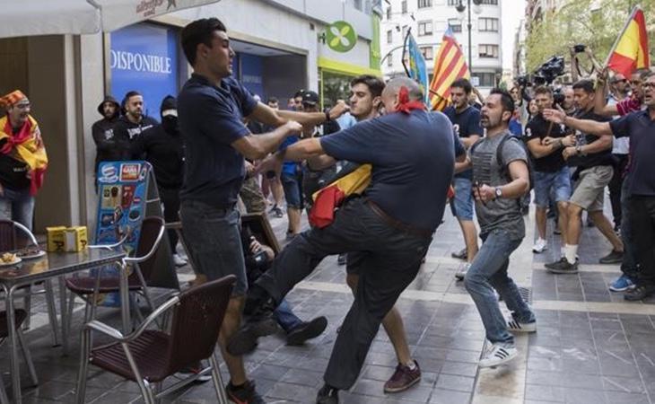 Agresiones de la extrema derecha a manifestantes