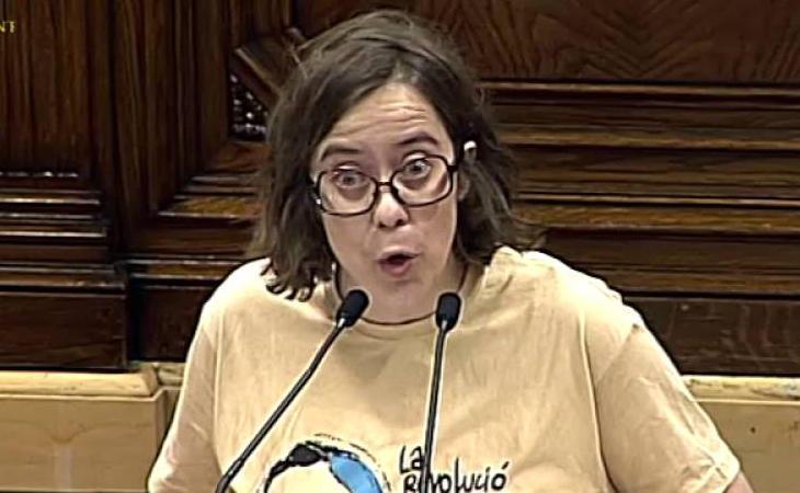 Eulàlia Reguant (CUP) pide proclamar 'inmediatamente' la independencia si se aplica el 155