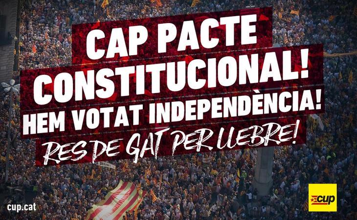 La CUP rechaza cualquier pacto constitucional. '¡Hemos votado independencia!', proclama