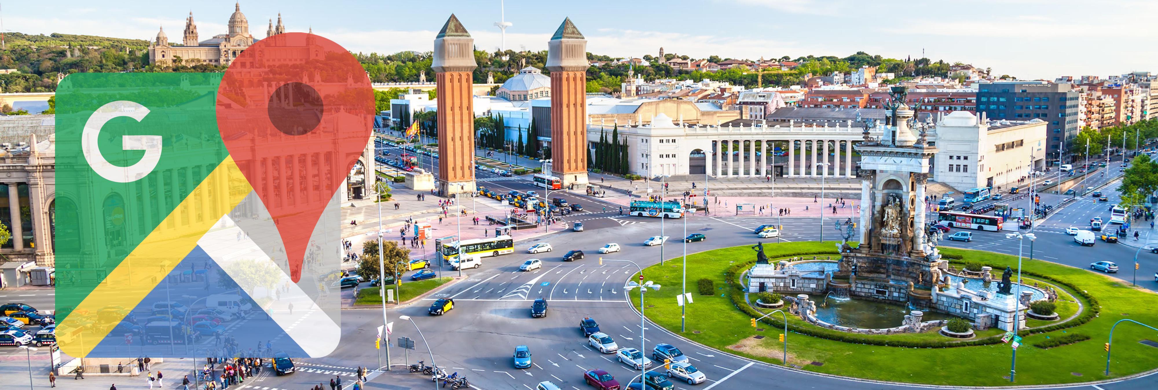 La Plaza de España de Barcelona se convierte en la 'Plaza del 1 de Octubre' en Google Maps