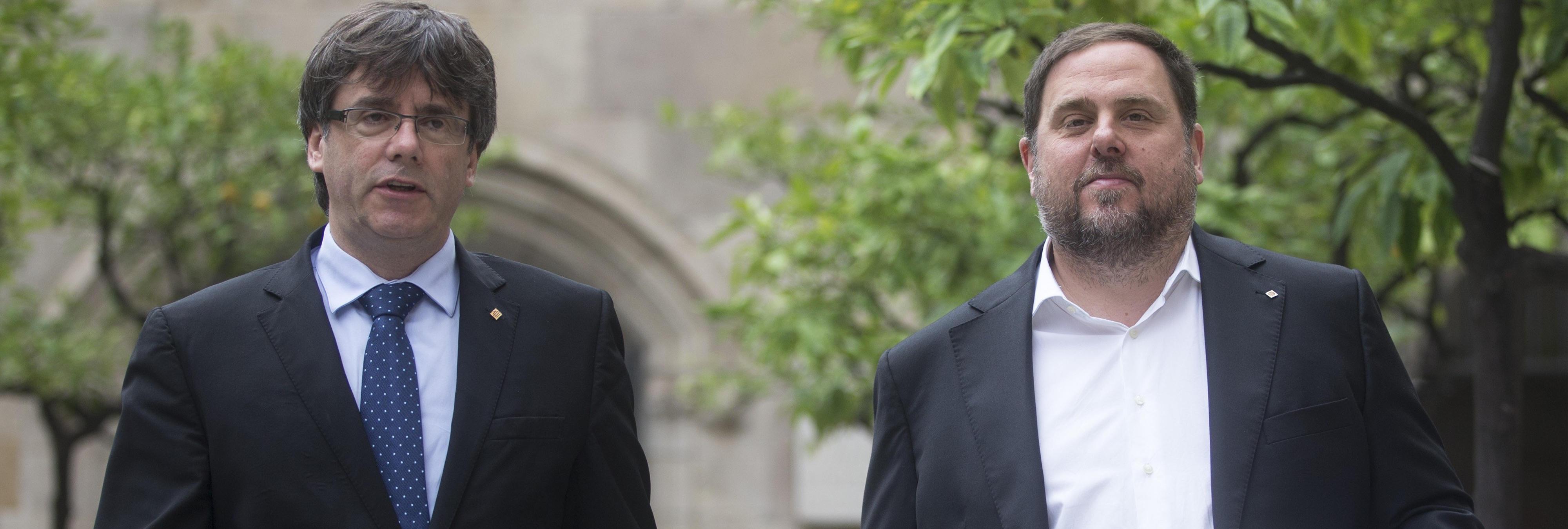 Carles Puigdemont y Oriol Junqueras responden al requerimiento de Rajoy
