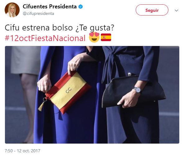 Cifu muestra el nuevo bolso de Cifu