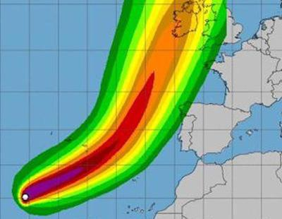 El huracán Ofelia se acerca a la costa española y amenaza con alcanzar el norte el lunes