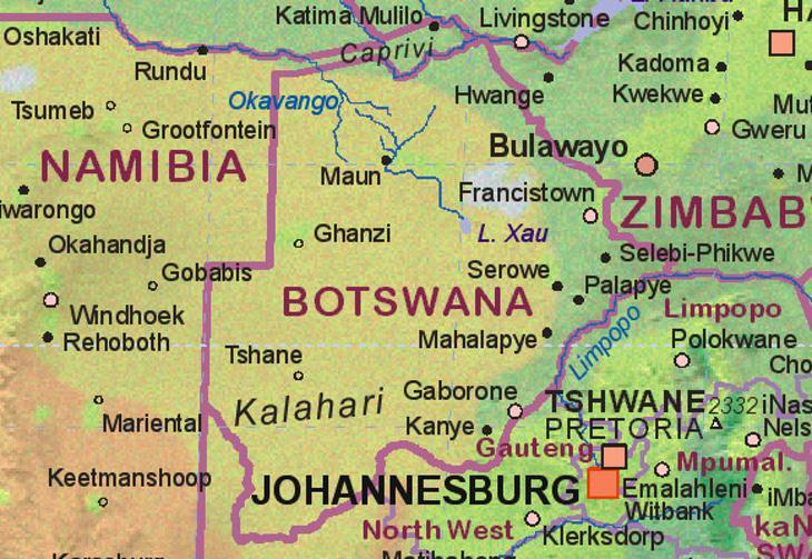 Botsuana no quiere que los territorios que no tengan sentimiento nacional quieran independizarse