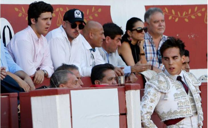 Froilán durante una corrida solidaria de su amigo Gonzalo Caballero