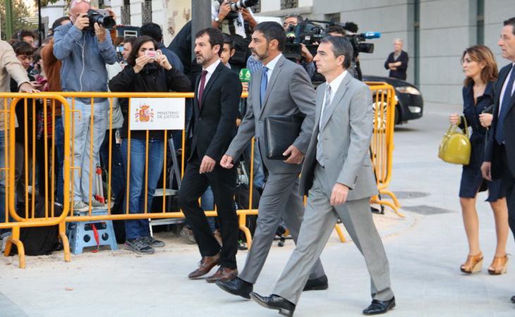 El major de los Mossos ha acudido a la sede de la Audiencia Nacional vestido de paisano